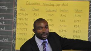 Mmusi Maimane presents the racial inequality of Apartheid Era South Africa
