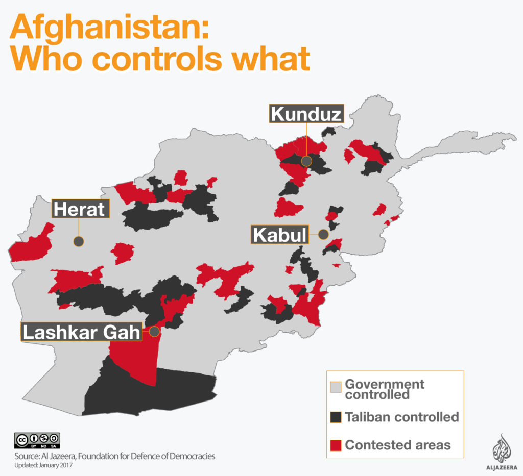 The Taliban's control