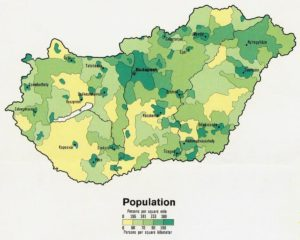 hungary-population-map
