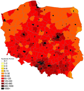 population density poland