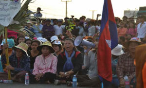 Peaceful Protest in Cambodia